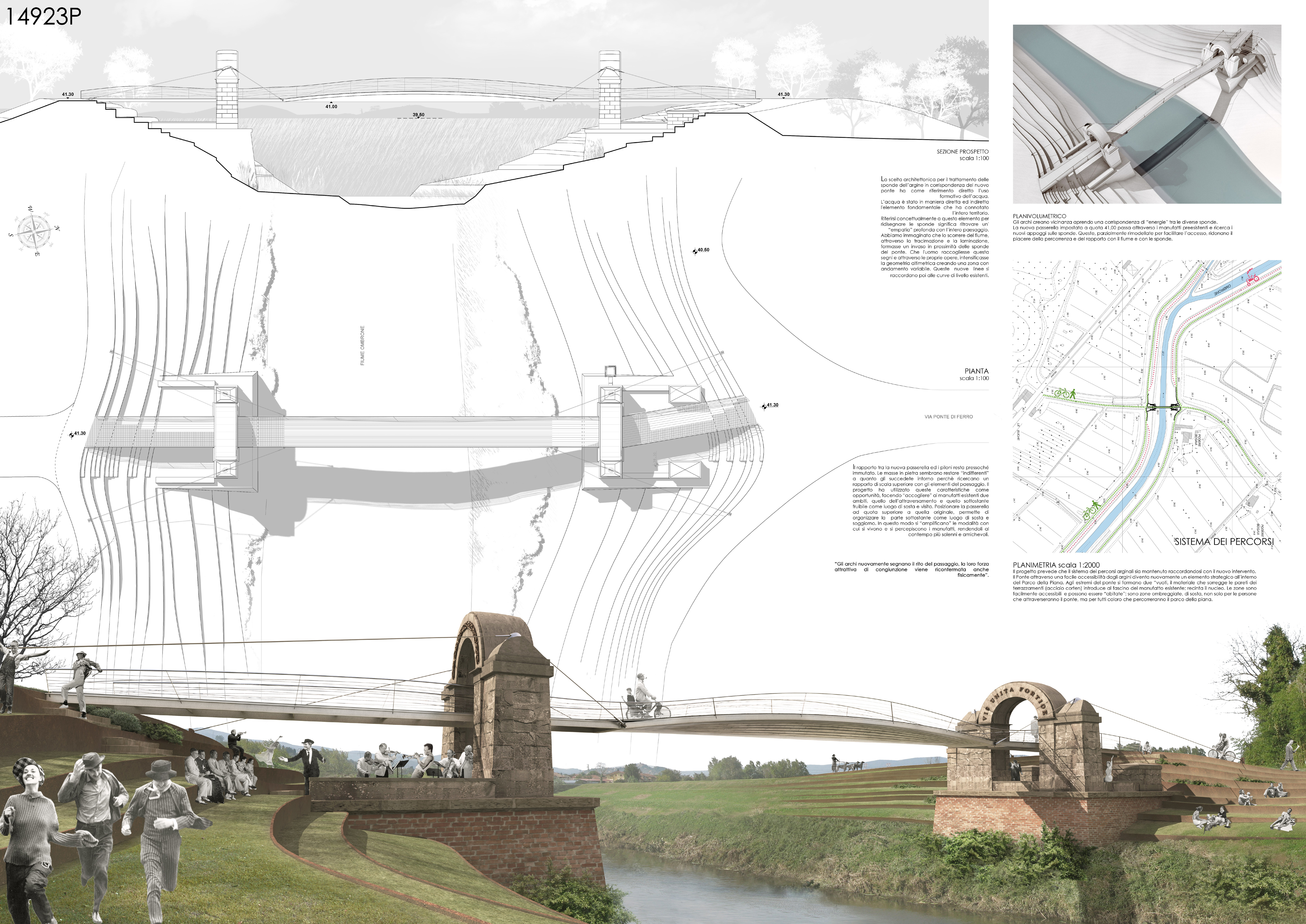 Concorso ponte manetti - Tavole di concorso architettura ...